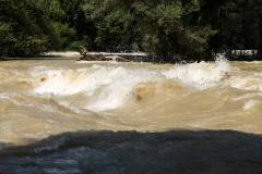 Hochwasser - Urgewaltig. Foto Uwe Kröger
