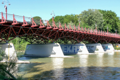 Thalkirchner Brücke. Foto Heidi Hausmann