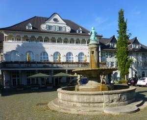 Marktplatz auf der Margarethenhöhe in Essen