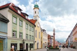 Fußgängerzone in Murnau