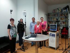 Das Drehteam von ILI hat uns beim Drehen der Videos sehr gut beraten und geholfen, das Lampenfieber zu überwinden.