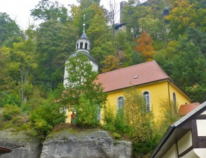 Die Bergkirche im Kurort Oybin im Zittauer Gebirge