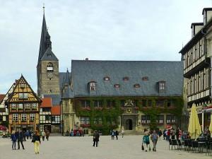 Das Rathaus in Quedlinburg