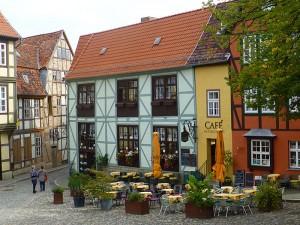 Malerische Gasse in Quedlinburg