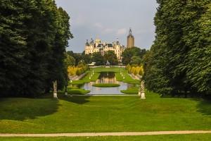 Blick auf den Schlossgarten Schwerin